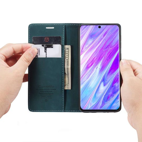 Caseme Galaxy S20+ Retro Wallet Case Blue