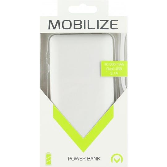 Mobilize Powerbank Aluminium Slim 10000 mAh Silver