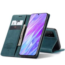 Caseme Galaxy S20 Retro Wallet Case Blue