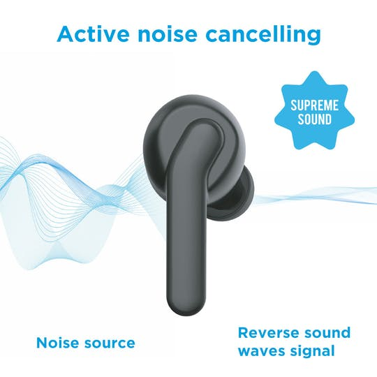 Silvergear Wireless ANC In-Ear Buds Black