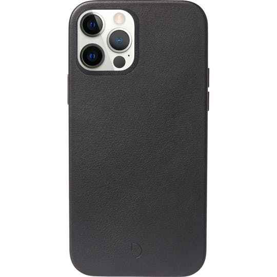 DECODED iPhone 12 (Pro) MagSafe Leather Back Cover Black