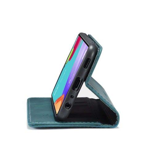 Caseme Galaxy A52 Retro Wallet Case Blue