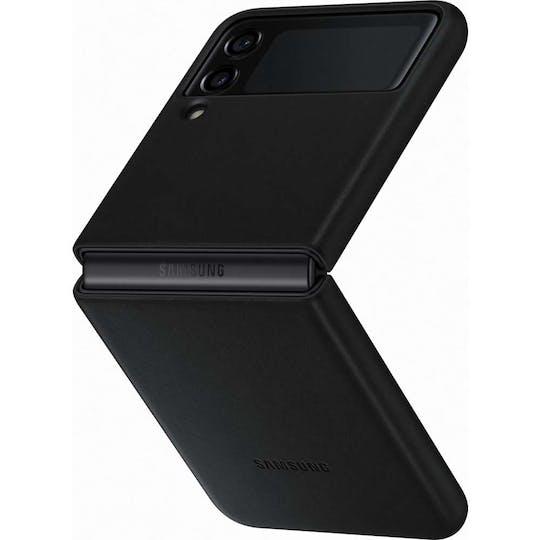 Samsung Galaxy Z Flip3 Leather Cover Black