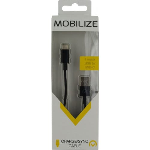 Mobilize USB Type C datakabel Black 1m.