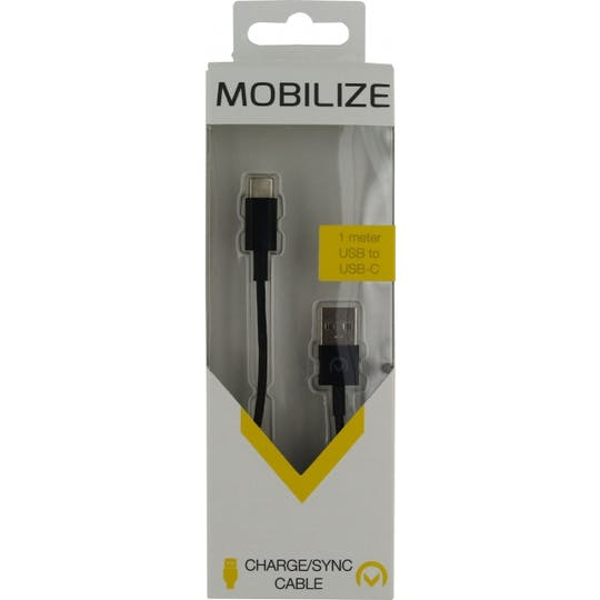Mobilize USB Type C datakabel Black 1m.