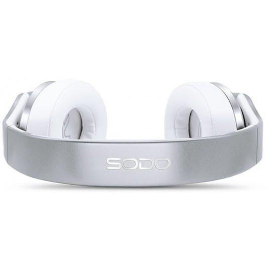 Sodo On-Ear Bluetooth Headphone/Speaker Silver
