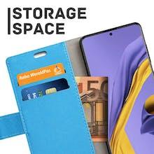 Just in Case Galaxy A51 Wallet Case Blue