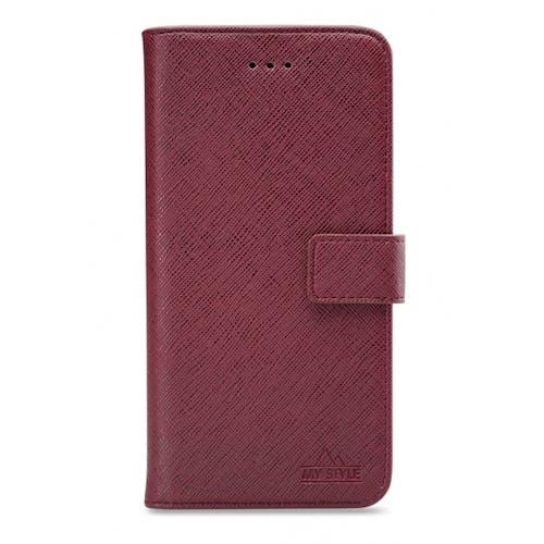 My Style Galaxy S21 Plus Wallet Case Bordeaux
