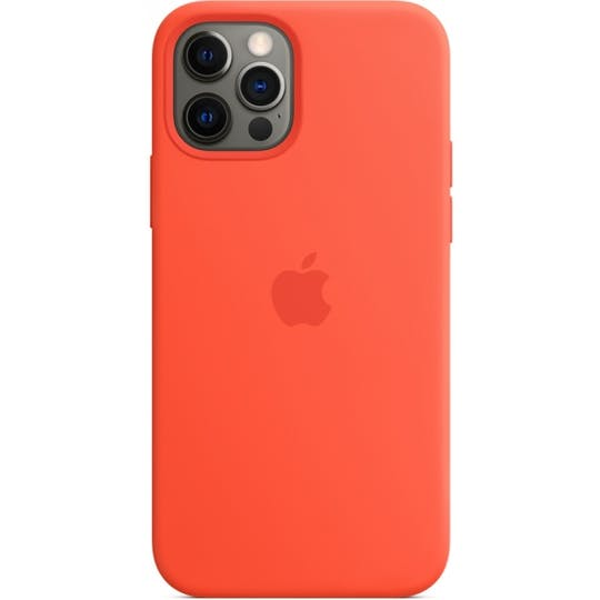 Apple iPhone 12 (Pro) Silicone Case Orange