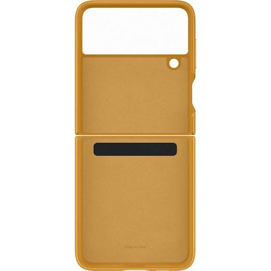 Samsung Galaxy Z Flip3 Leather Cover Mustard