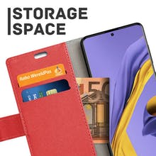 Just in Case Galaxy A51 Wallet Case Red