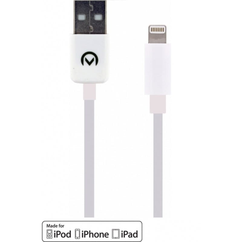 Mobilize iPhone Lightning Kabel Wit 1m