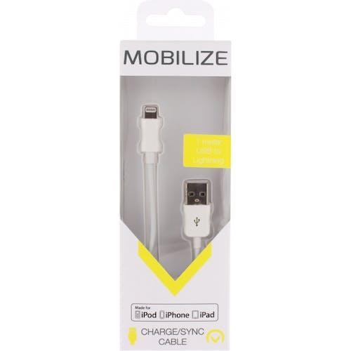 Mobilize iPhone Lightning Kabel Wit 1m