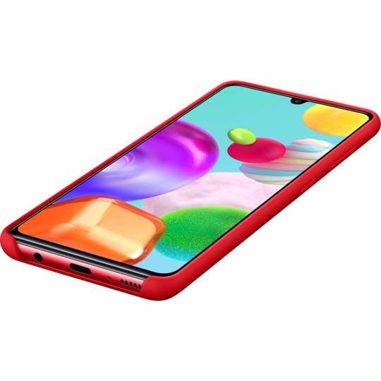 Samsung Galaxy A41 Silicone Cover Red