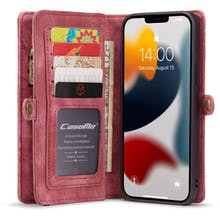 Caseme iPhone 13 Pro Max Wallet Case All in One Red