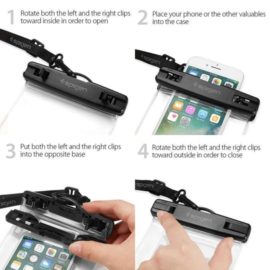 Spigen Universele Waterdichte Smartphone Case Black