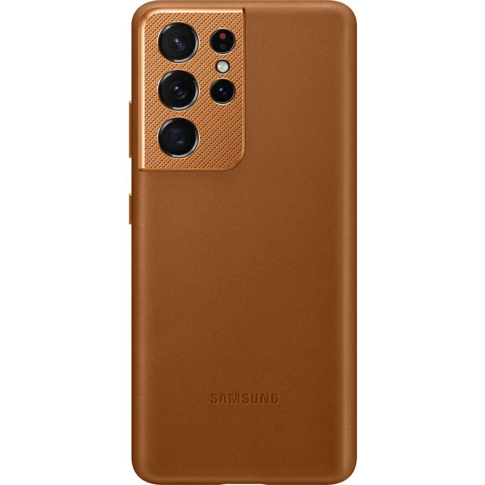 Samsung Galaxy S21 Ultra Leather Cover Brown